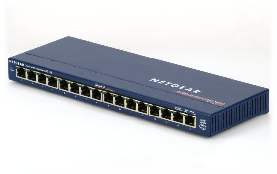 Netgear GS116 v2 ProSafe 16 Port Gigabit Switch 16x RJ-45 GbE Ethernet 100/1000 Mbps