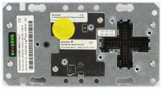 Nexans FiberSwitch 100 BM+ SM (ST) Typ II PoE Switch Unterputz ohne TP-Aufsatz