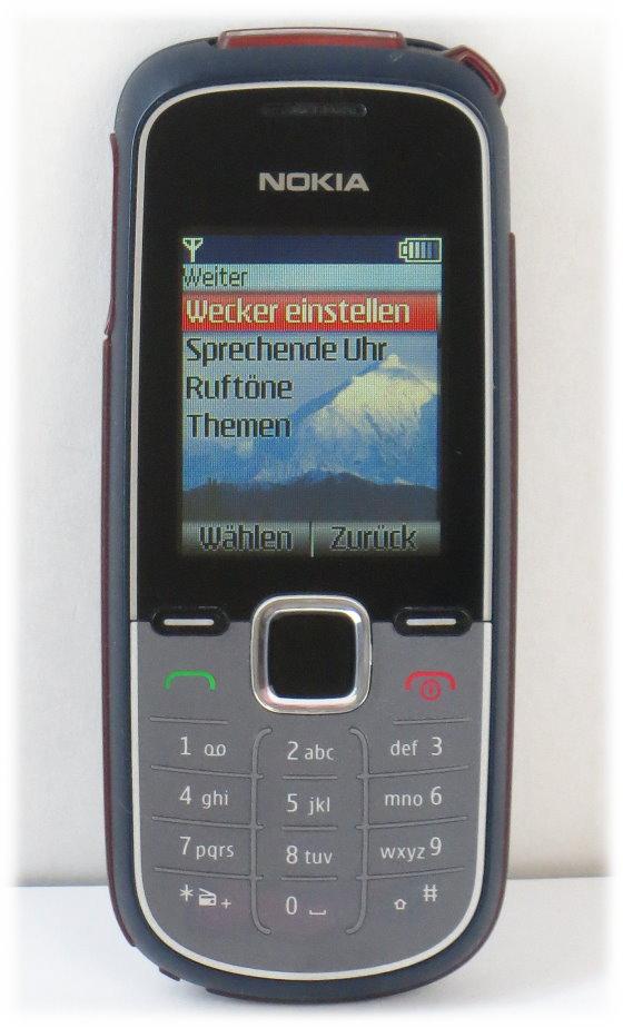 Nokia 1662-2 Handy silber-blau SIMlock-frei mit Ladegerät