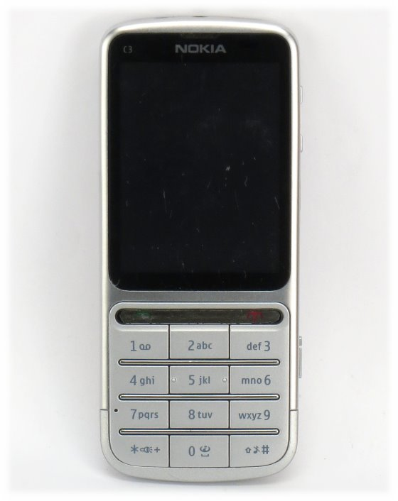 Nokia C3-01 touch and type SIMlock-frei Smartphone defekt Displaybruch