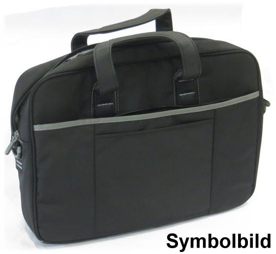 """Notebook Tragetasche bis 17,3"""" Zoll Nylon schwarz Laptop Bag Tasche mit Schultergurt"""