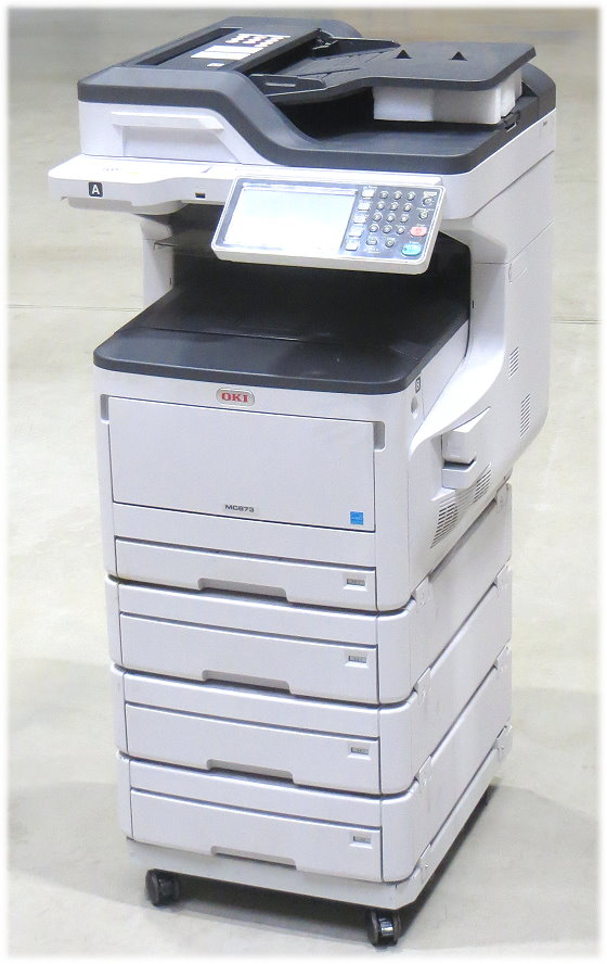 OKI MC873dnv DIN A3 Multifunktionsgerät Farblaserdrucker AllInOne nur 74400 S.