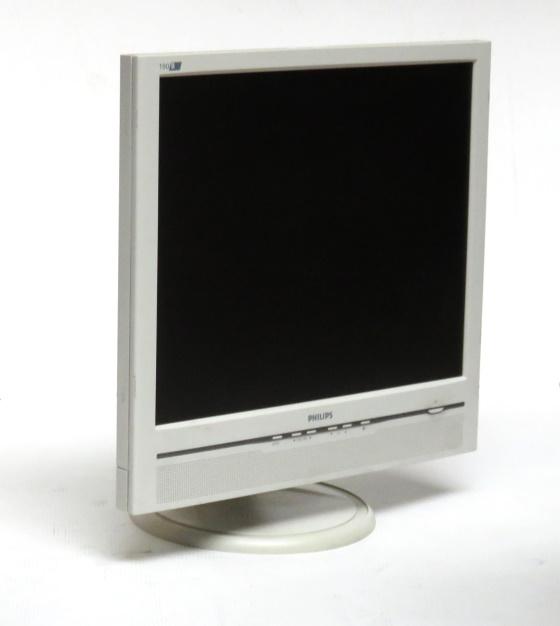 "19"" TFT LCD PHILIPS 190B5 1280 x 1024 VGA DVI-D Monitor mit Lautsprecher"