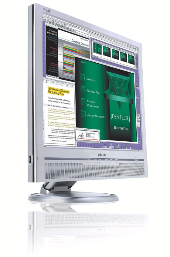"19"" TFT LCD PHILIPS 190B6 VGA DVI Monitor mit Lautsprecher B-Ware"