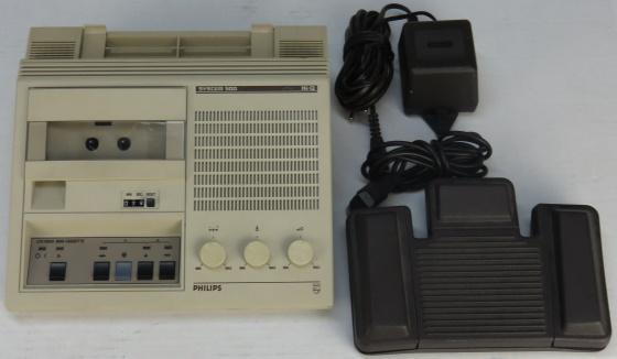 Philips Diktiergerät LFH 0505 System 500 Hi-Q mit Fußpedal vergilbt