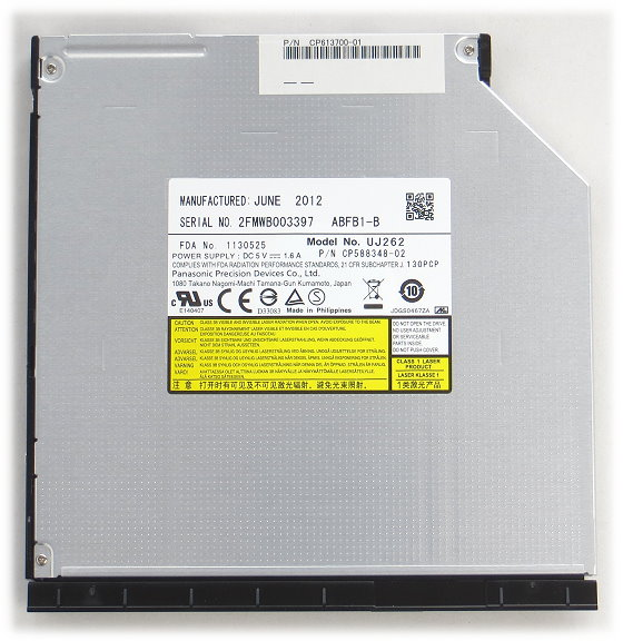 Panasonic UJ262 Blu-Ray/CD-RW/DVD±RW/DVD-DL/DVD-RAM SATA Brenner für Lifebook P772