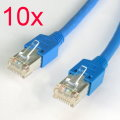 10x Patchkabel CAT5e NEU/NEW 1,5m blau Gigabit Ethernet Kabel Cable