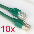10x Patchkabel CAT5e NEU/NEW 2m grün Gigabit Ethernet Kabel Cable