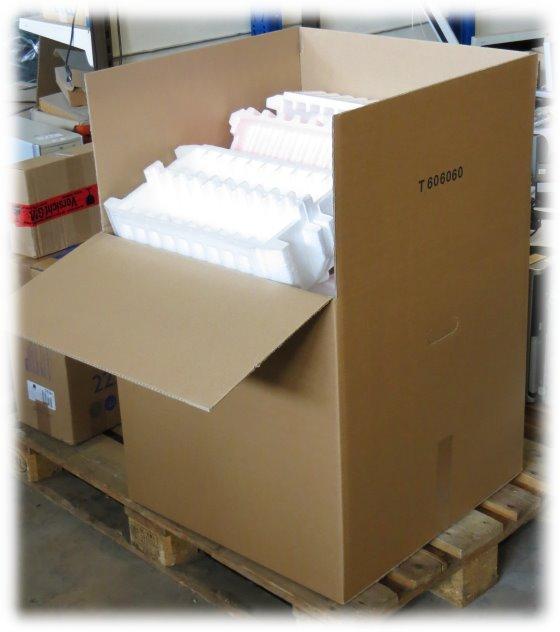 Polypropylen-Schaum Verpackungsmaterial gebraucht im Karton 60x60x60 cm Styropor