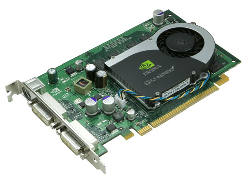 nVidia Quadro FX1700 Grafikkarte 512MB PCIe x16 2x DVI 1x S-Video