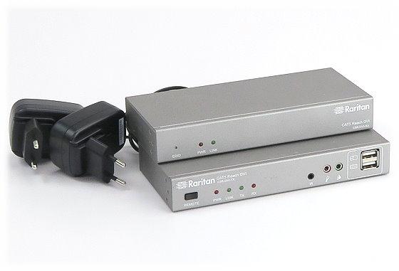 Raritan DVI KVM Extender C5R-DVI-RX + C5R-DVI-TX Verlängerung 150m über CAT5e/CAT6