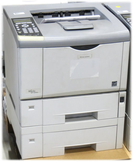 Ricoh Aficio SP 4310N 36 ppm 256MB LAN Laserdrucker mit 2.PF unter 50.000 Seiten