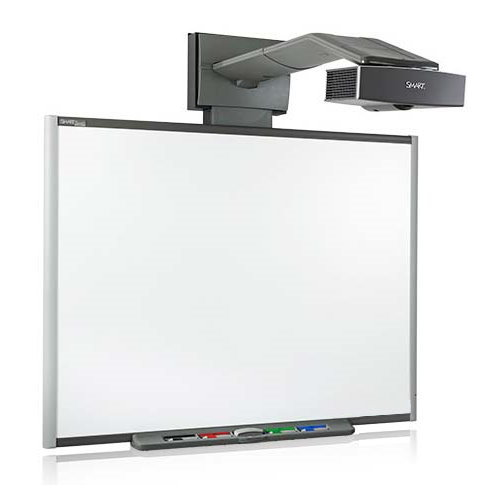 SMART UF55 Beamer DLP mit Whiteboard Touch Screen Pen Wandhalterung