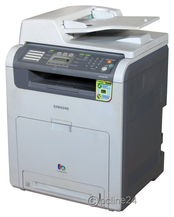 samsung clx 6210fx all in one fax farblaser drucker kopierer scanner defekt ohne toner ohne. Black Bedroom Furniture Sets. Home Design Ideas