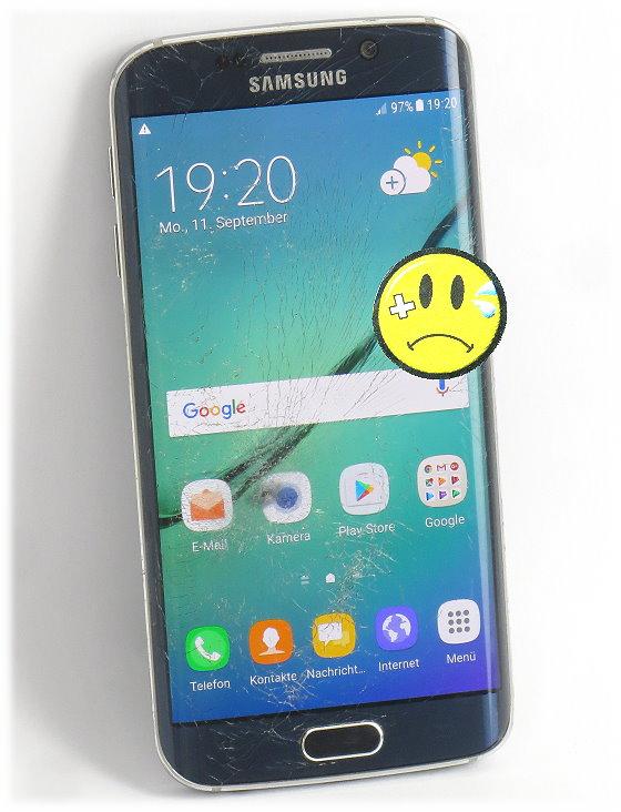 Samsung Galaxy S6 Edge 32GB SM-G925F Black C- Ware ohne Netzteil
