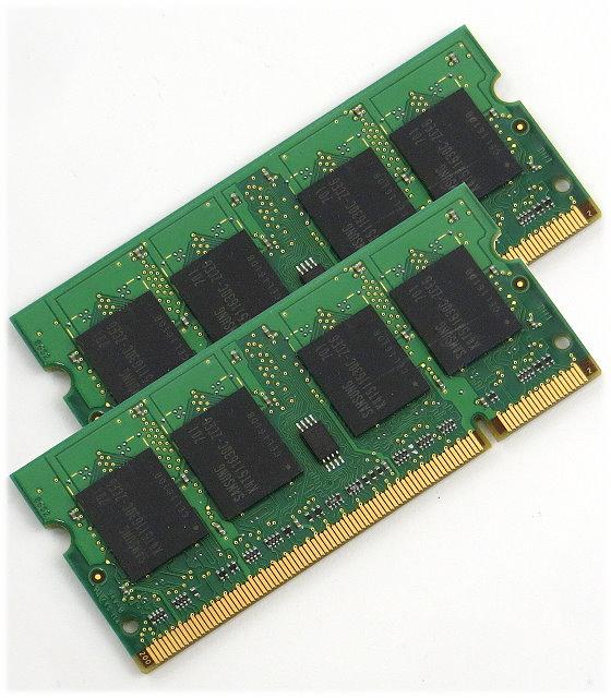 Markenhersteller 1GB (2x 512MB) PC2-5300S SO DIMM 204pin DDR2 für Laptop Notebook