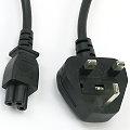 Stromkabel UK 3-polig für Netzteile Typ G BS 1363 auf IEC-60320 C5