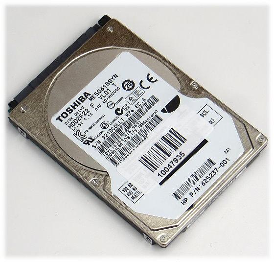 """2,5"""" Toshiba MK5061GSYN 500GB SATA II 3Gbps 7.200rpm HDD2F22 HDD Festplatte"""