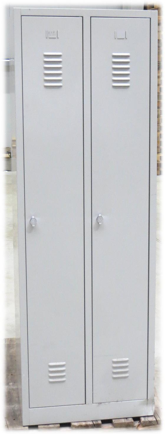 Umkleideschrank Metallspind Kleiderspind 2x Abteile Garderobenschrank B-Ware