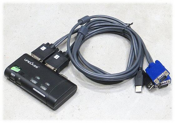 Uniclass AH-02 KVM Switch 2-Port D-Sub USB Slim ohne Netzteil