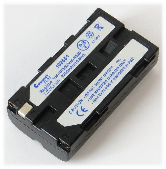 VM-NP500/VM-N520 Akku 7,2V 2200mAh Li-Ion für Hitachi Ersatzakku