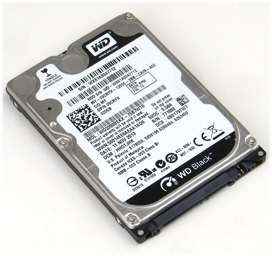 "2,5"" Western Digital WD3200BEKX 320GB SATA III 6Gbps 7.200rpm Notebook Festplatte"