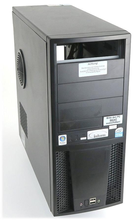 Wortmann Terra Computergehäuse mit Netzteil 350W und 2x Gehäuselüfter B-Ware