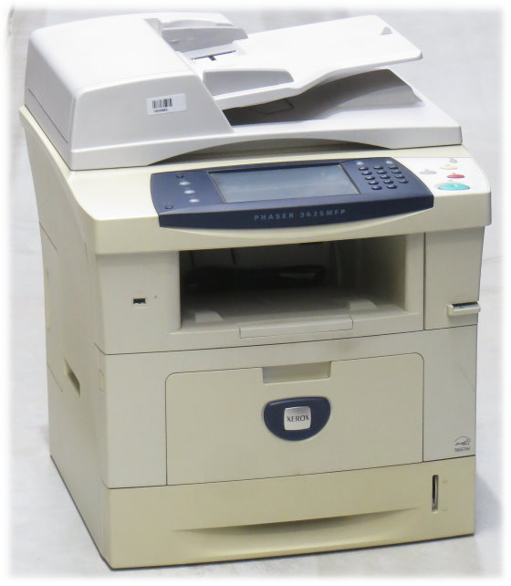 Xerox Phaser 3635MFP All-in-One FAX Kopierer Scanner Drucker ohne Toner 33.800 S.
