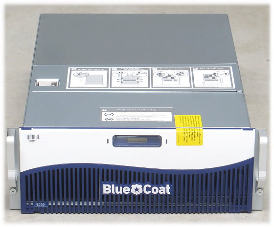 blue coat SG9000-10-PR Opteron 2,6GHz 8GB 2x PSU Security Appliance Server B-Ware