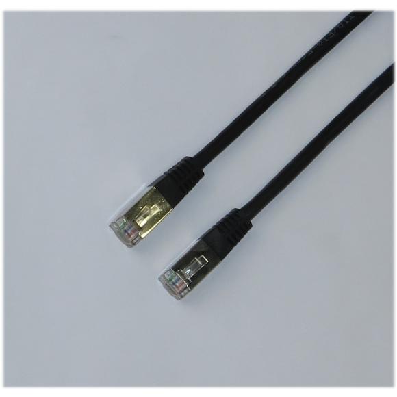LAN/Patch-Kabel CAT.5e 3m schwarz FTP RJ-45/RJ-45 NEU/NEW