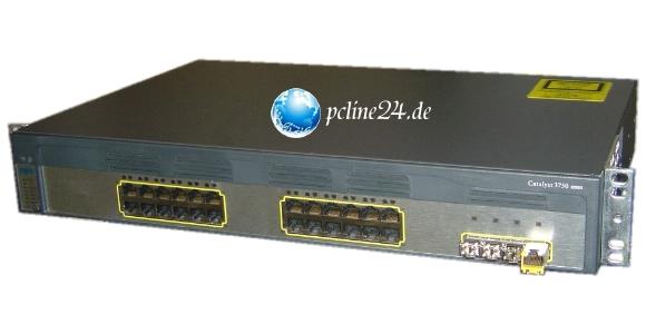Cisco Catalyst 3750G 24 Port Switch WS-C3750G-24TS