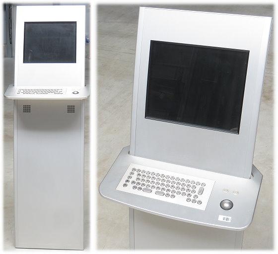 Friendlyway Infoterminal Gehäuse mit Edelstahl Metall Tastatur und Maus