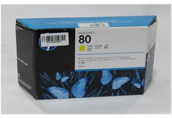 Original HP C4848A Nr.80 Tintenpatrone Gelb/Yellow NEU/NEW