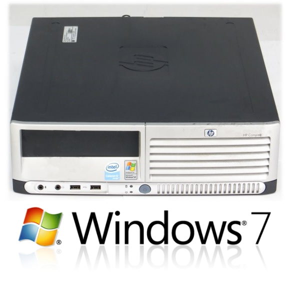 HP Compaq dc7700 Intel CPU 3,2GHz 2GB 80GB Windows 7