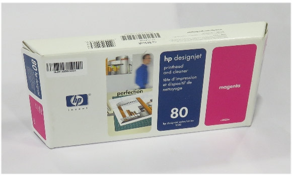 original HP C4822A Printhead & Cleaner magenta Nr.80 OVP geöffnet