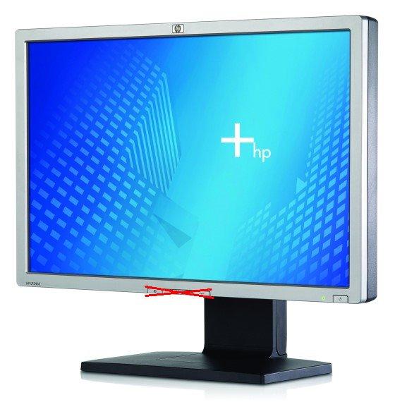 """24"""" TFT HP LP2465 1920x1200 USB-Hub (Knöpfe fehlen)"""