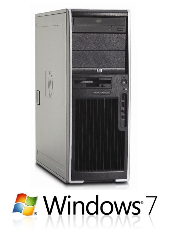 HP xw4400 Workstation Dual Core E6700 2,66GHz 4GB 250GB DVD Dual Head Windows 7
