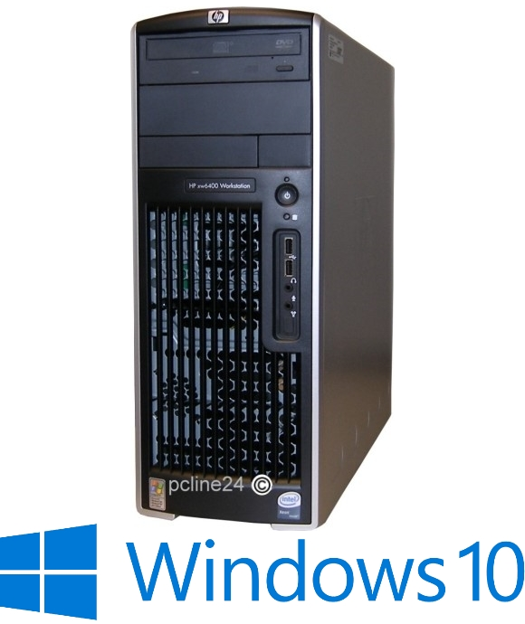 HP xw6400 2x Xeon Dual Core 5140 @ 2,33GHz 4GB 500GB DVD Windows 10 Pro B-Ware