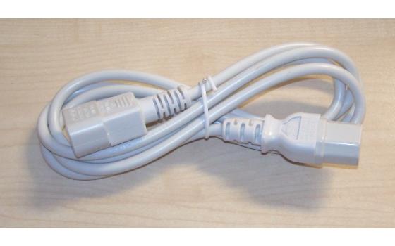 Kaltgeräteverlängerung Kabel C13/C14 10A weiß z.B. für USV 1,8m