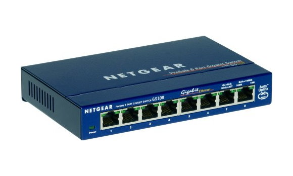 Netgear ProSAFE GS108 8-Port Gigabit Switch GS 108