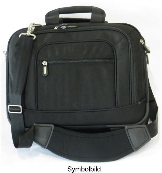 """Notebook Tragetasche bis 15,6"""" Zoll Nylon schwarz Laptop Bag Tasche mit Schultergurt"""