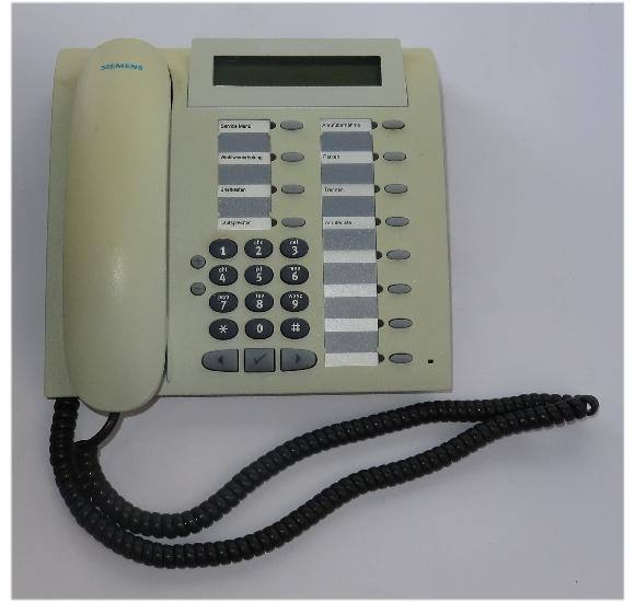 Siemens optiPoint 500 Standard arctic Systemtelefon Hipath vergilbt