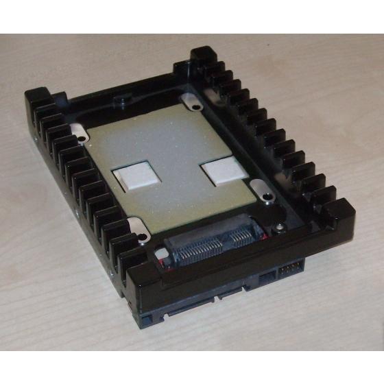 "Western Digital 2,5"" auf 3,5"" Festplatten Adapter SATA Einbau Rahmen mit Kühler IcePack ALU"
